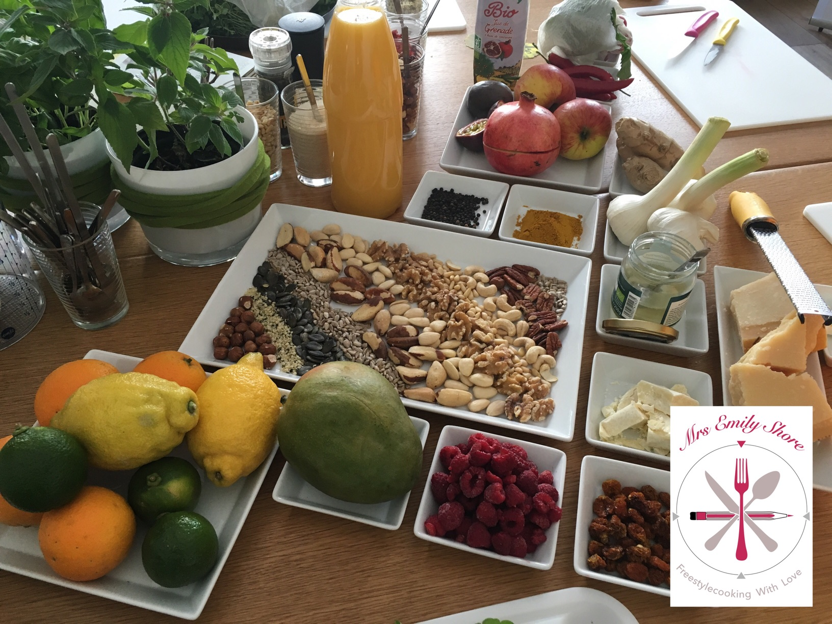 Foodblogday München 2016 Hubert Burda Media UFOP Rapsöl Wildkräuter Pesto