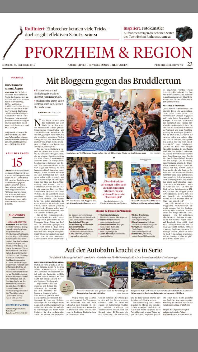 PZ, News, Bloggertreffen, Pforzheim