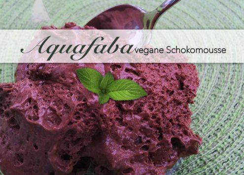 Aquafaba Kichererbsenwasser für veganes Schokomousse