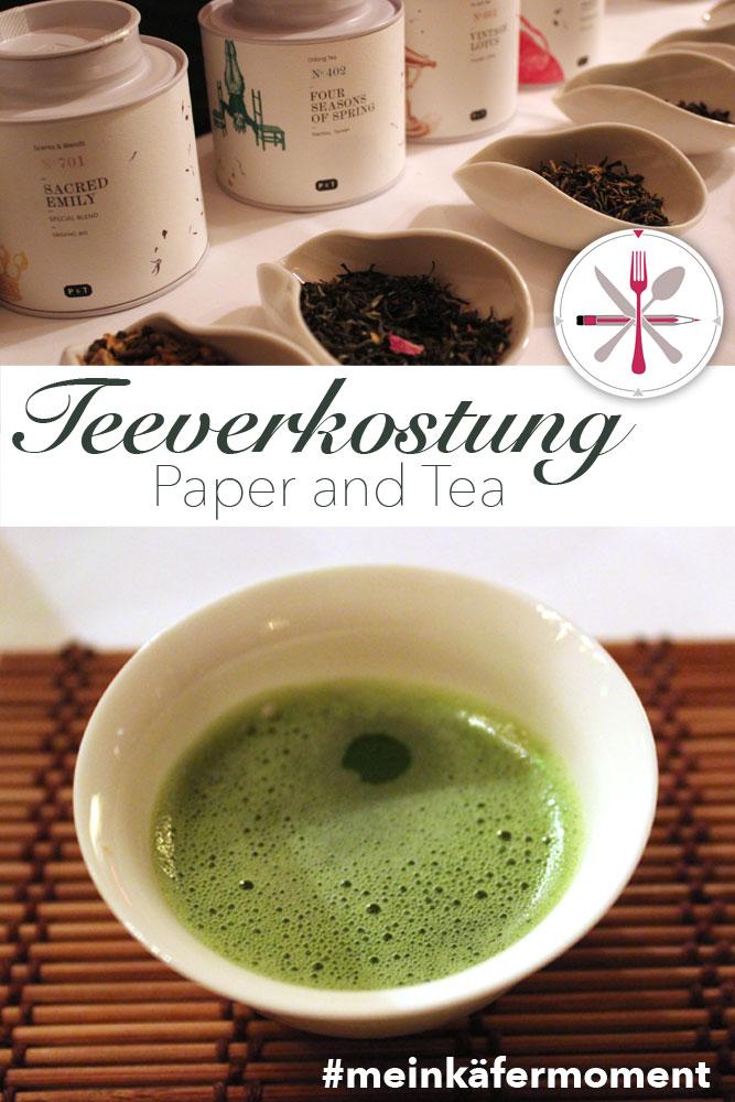Paper and Tea: Teeverkostung bei Feinkostkäfer in München Bogenhausen.